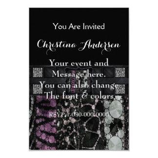 "Mixed Animal Print Monogram 3.5"" X 5"" Invitation Card"