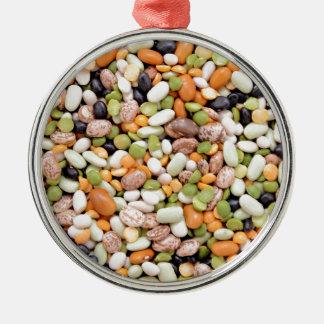 Mixed beans metal ornament