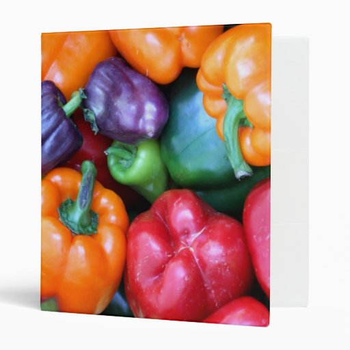 Mixed Bell Peppers Avery Binder