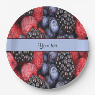 Mixed Berries 9 Inch Paper Plate