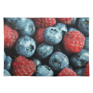 Mixed berries (blueberries and raspberries) design placemat