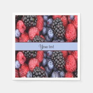 Mixed Berries Disposable Napkins