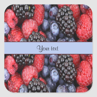 Mixed Berries Square Sticker
