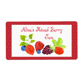 Mixed Berry Preserves Canning Label Shipping Label