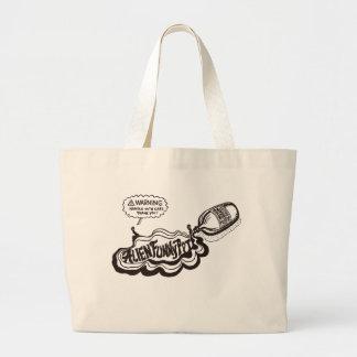 "Mixed Brain Alien Funny Pot ""fairy"" totobatsugu Large Tote Bag"