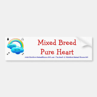 Mixed Breed Pure Heart Bumper Sticker