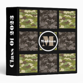 Mixed Camouflage w/Personalization 3 Ring Binders