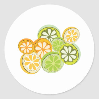 Mixed Citrus Classic Round Sticker