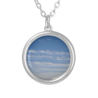 Mixed Clouds Silver Plated Necklace