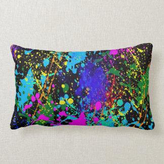 Mixed Colored Splatter Throw Pillow