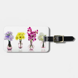 Mixed Colorful Flowers Orchids Daisies Tag For Luggage