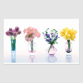 Mixed Colorful Flowers Tulips Daisies Lilacs Sticker