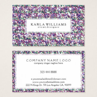 Mixed Colors Glitter Texture Print Business Card