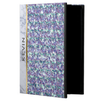 Mixed Colors Glitter White Marble Accent Powis iPad Air 2 Case