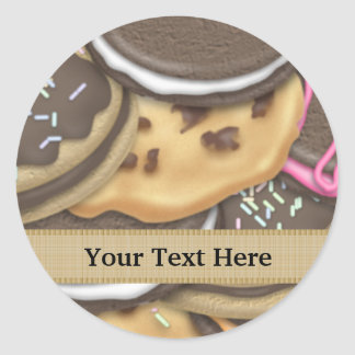 Mixed Cookie food add text sticker