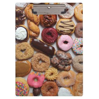 Mixed doughnuts clipboard