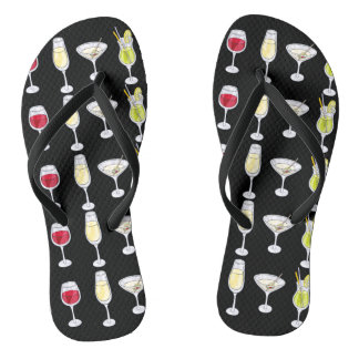 Mixed Drinks Flip Flops