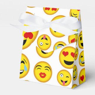 Mixed emoji pattern fun party favor box