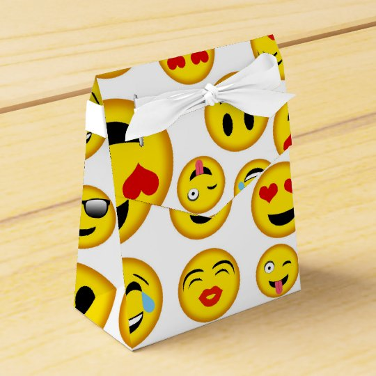 Mixed emoji pattern fun party favour box