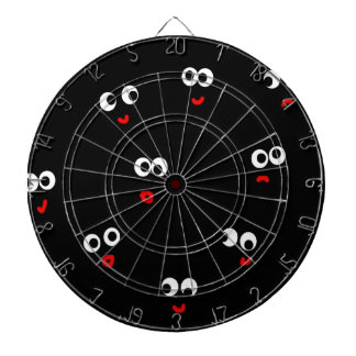 mixed emotions dartboard with darts