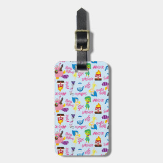 Mixed Emotions Pattern Luggage Tag