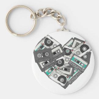 Mixed Feelings Cassette Tape Heart Keychain