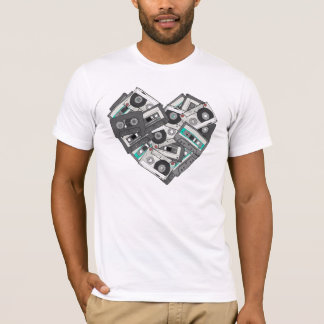 Mixed Feelings Cassette Tapes Heart T-Shirt Design