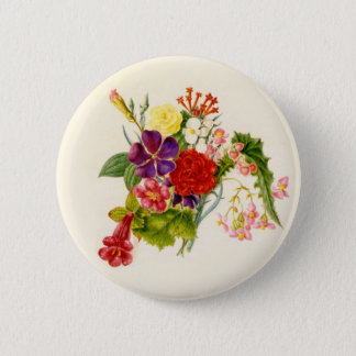 Mixed Flower Bouquet 2 Inch Round Button