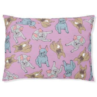Mixed French Bulldog Bed: Pink Pet Bed
