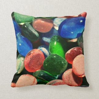 Mixed glass shapes throw pillow