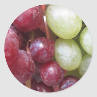 Mixed Grapes Round Sticker