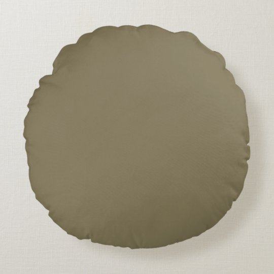 Mixed Herb (Green/Brown) Colour Round Pillow
