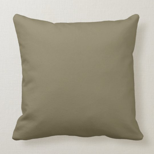 Mixed Herb (Green/Brown) Colour Throw Pillow