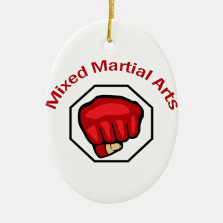 MIXED MARTIAL ARTS CERAMIC OVAL ORNAMENT