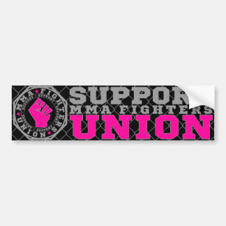 Mixed Martial Arts [MMA] Fighters Union, Silver v2 Bumper Sticker