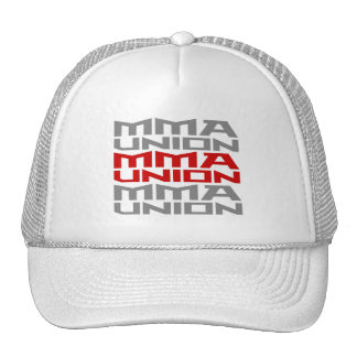 Mixed Martial Arts [MMA] Fighters Union v05 Silver Trucker Hat