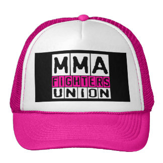 Mixed Martial Arts [MMA] Fighters Union v21, White Trucker Hat