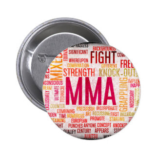 Mixed Martial Arts or MMA as a Grunge Concept 2 Inch Round Button