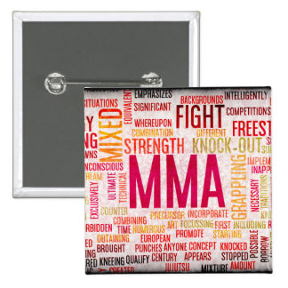 Mixed Martial Arts or MMA as a Grunge Concept 2 Inch Square Button