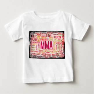 Mixed Martial Arts or MMA as a Grunge Concept Baby T-Shirt