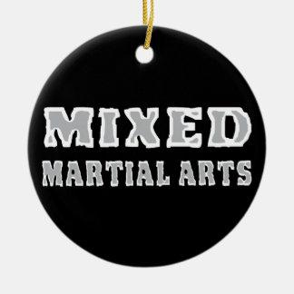 Mixed Martial Arts Round Ceramic Ornament