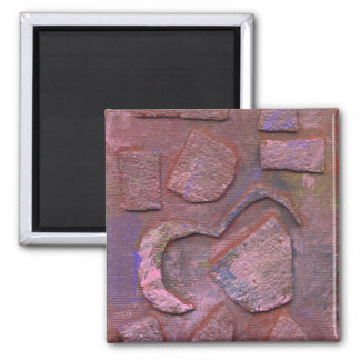 Mixed Media Abstract Art Magnet