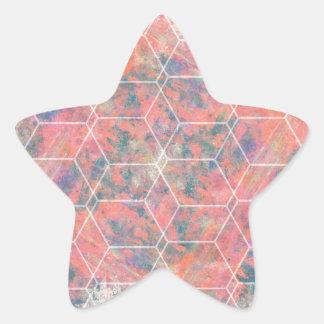 Mixed Media Bird Star Sticker