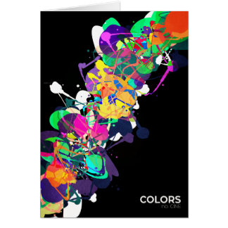 Mixed Media Colors 1 Greeting Card