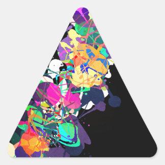 Mixed Media Colors 1 Triangle Sticker