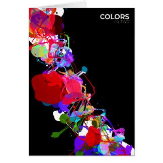 Mixed Media Colors 2 Greeting Card