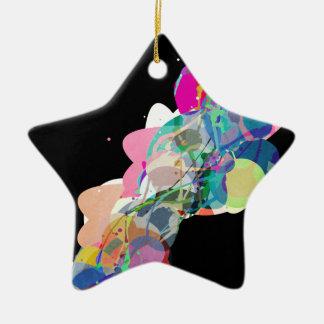Mixed Media Colors 4 Ceramic Star Ornament