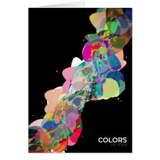 Mixed Media Colors 4 Greeting Card