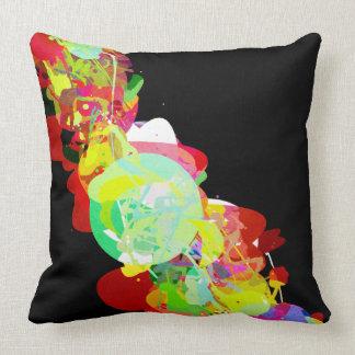 Mixed Media Colors 5 Throw Pillow