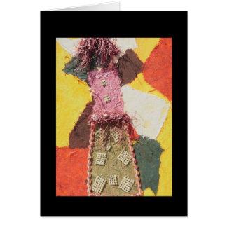 Mixed Media Girl - Blank Mixed Media Art Card